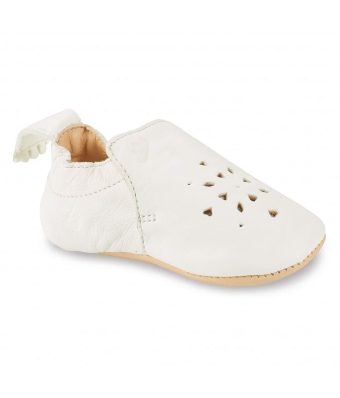 Chaussons Blumoo Perfos Blanc - 12 / 18 mois