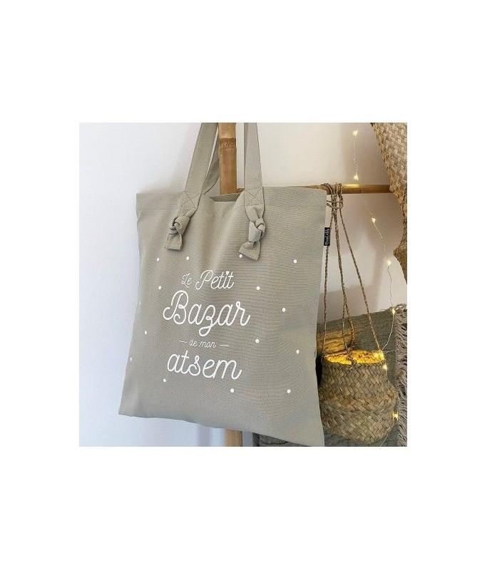 "Tote-bag à noeuds - lin ""ATSEM"""