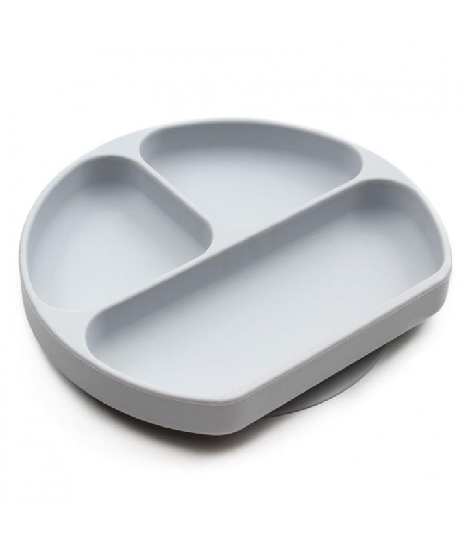Assiette antidérapante - gris