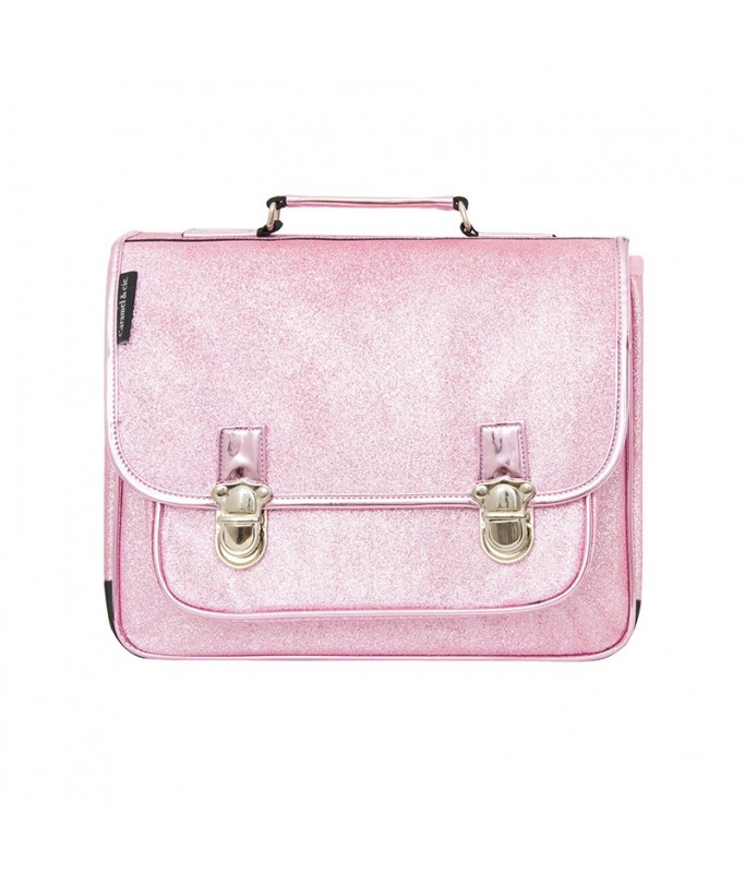 Cartable Medium - Paillettes Roses