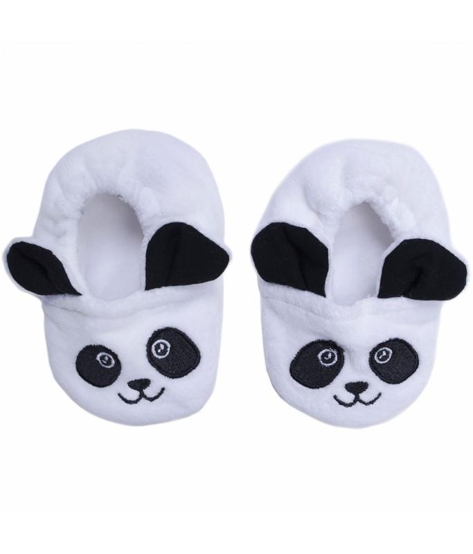 Chaussons velours Petit Panda - 0-6 M