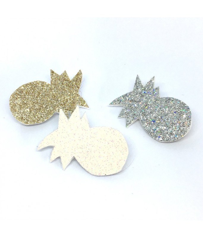 Broche Ananas - Paillettes Or