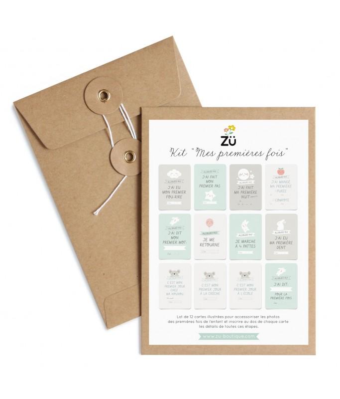 """Kit cartes """"Les premiers mois de bébé"""""""
