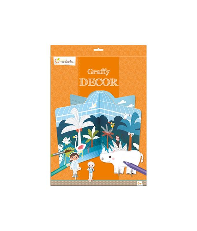 Décor à colorier et construire - Graffy Décor - Zoo
