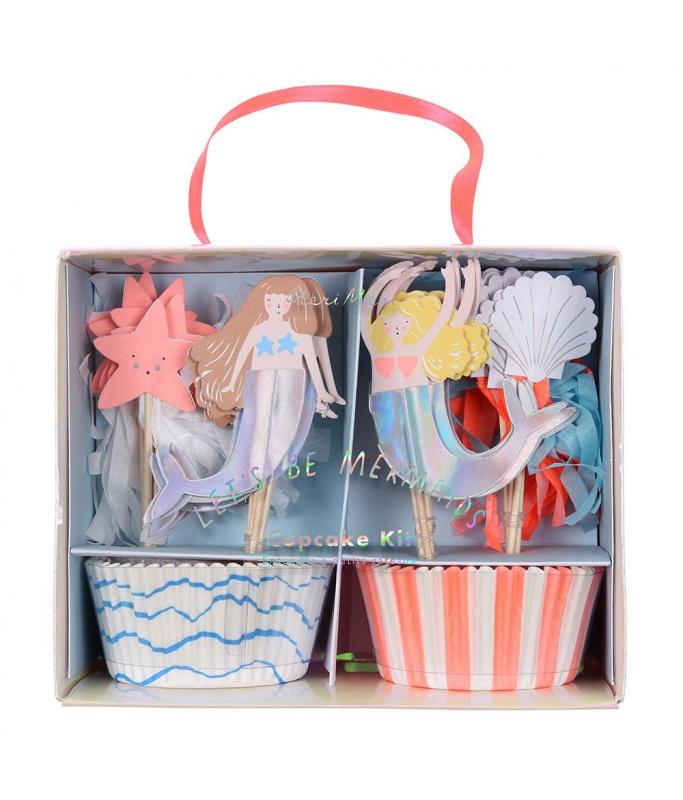 Kit Cupcake Sirènes x8