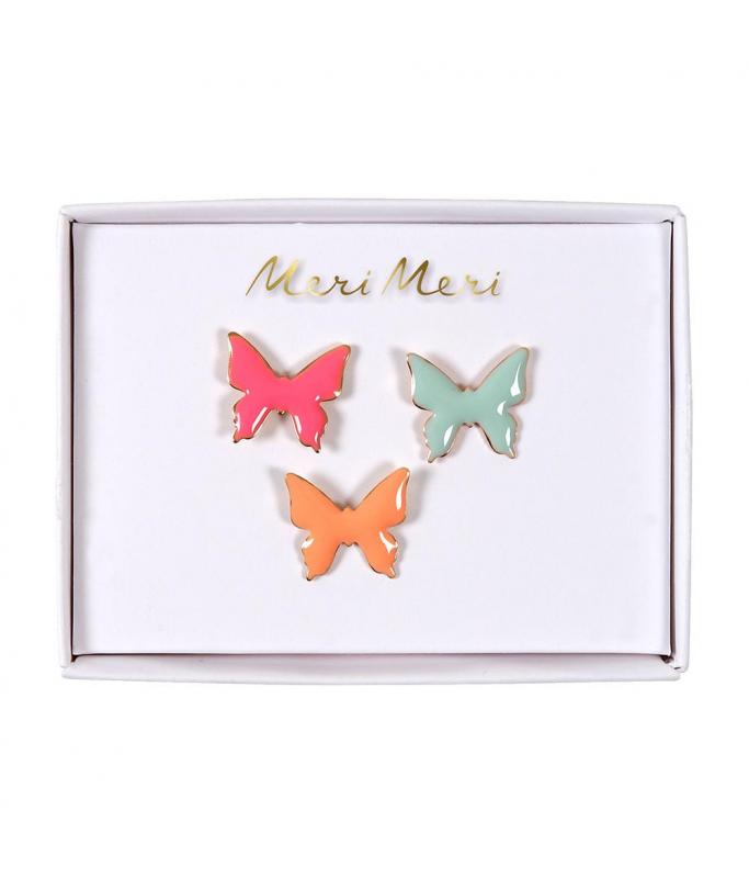 Pins Papillons x3