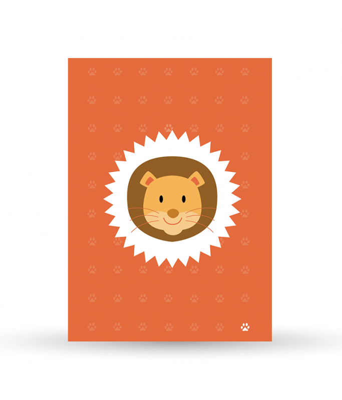 Carte Postale Jungle - Lion