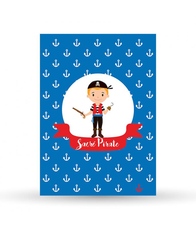 Carte Postale Pirate - Garçon bleu