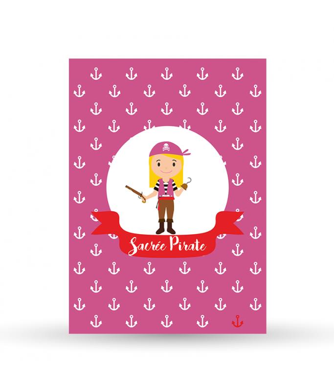 Carte Postale Pirate - Fille