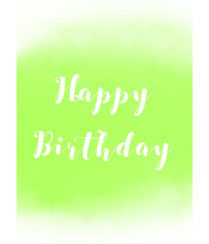 Carte Postale Happy Birthday - vert