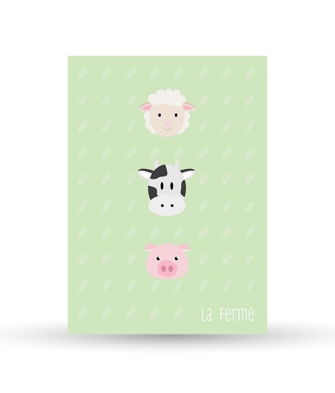 Carte Postale La Ferme - verte