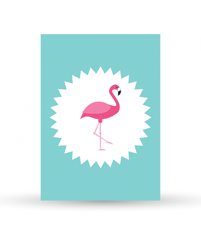 Carte Postale Flamand Rose