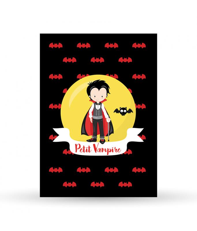 Carte Postale Vampire - Garçon