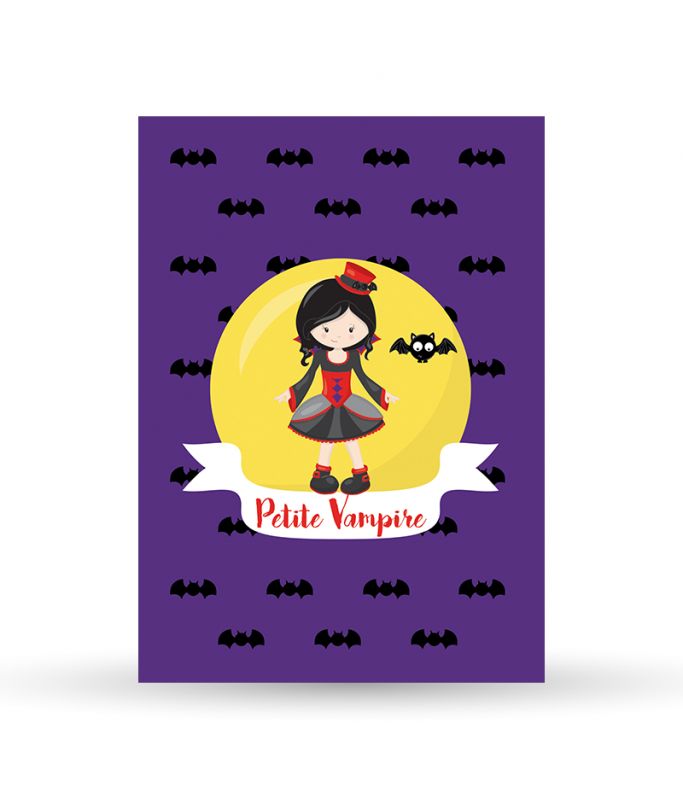 Carte Postale Vampire - fille