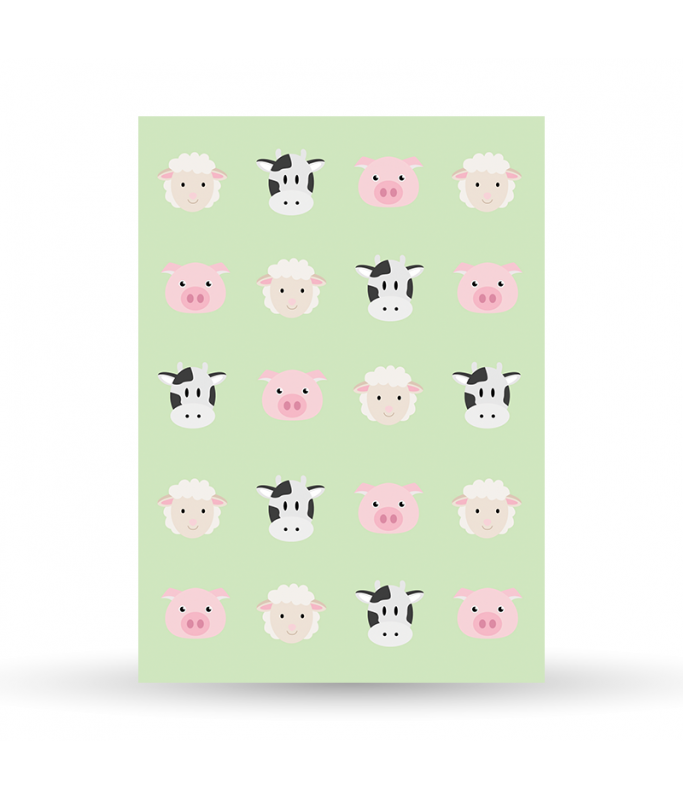 Carte Postale La Ferme - Motif vert