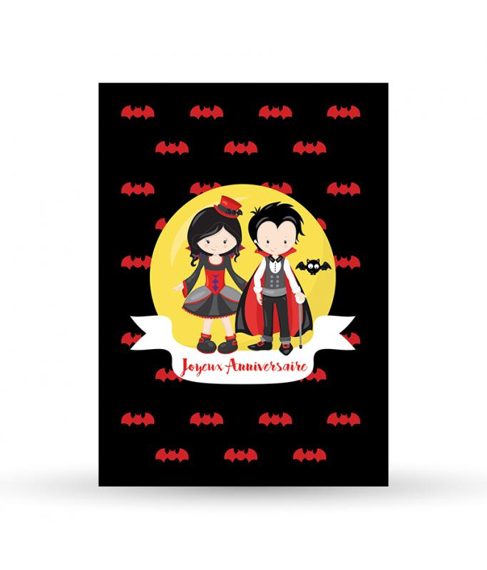 Carte Postale Bon Anniversaire - Vampire