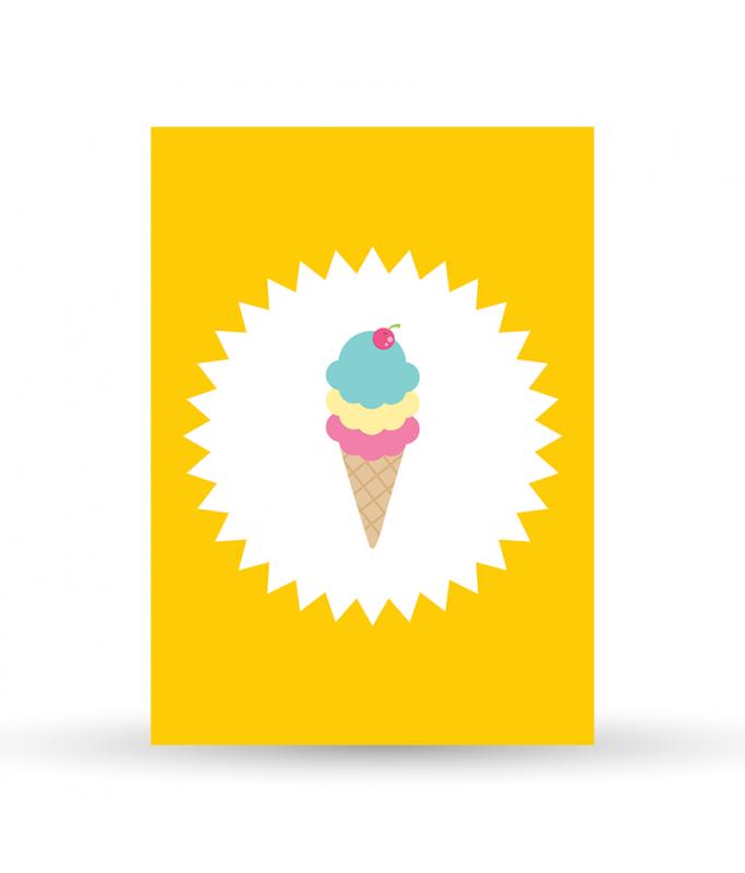 Carte Postale Glace
