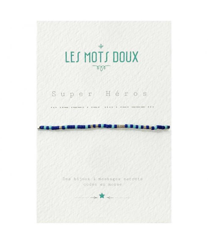 """Bracelet enfant """"Super Héros"""" bleu"""