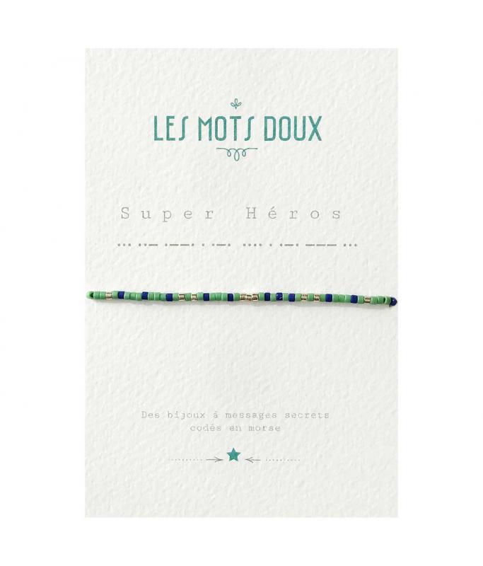 """Bracelet enfant """"Super Héros"""" vert"""