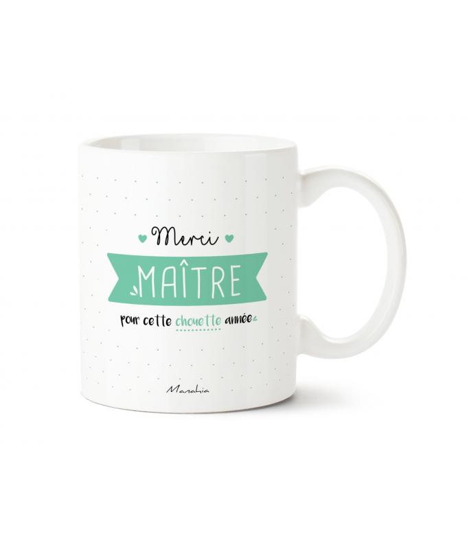"""Mug """"Merci Maître pour cette chouette année"""