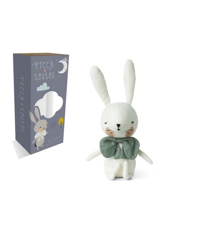 Picca Loulou - Lapin blanc en boîte cadeaux - 18 cm
