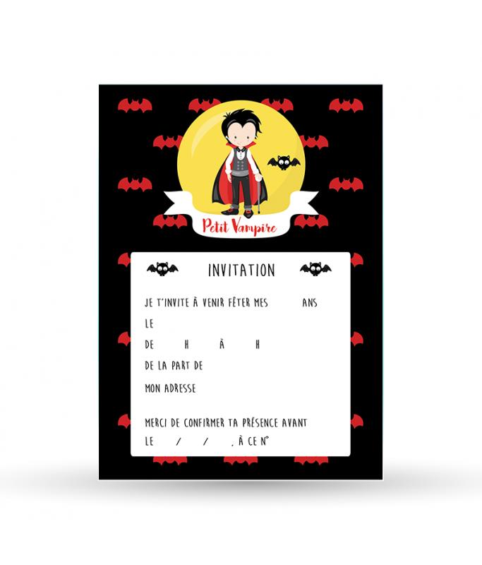Invitation - Vampire garçon