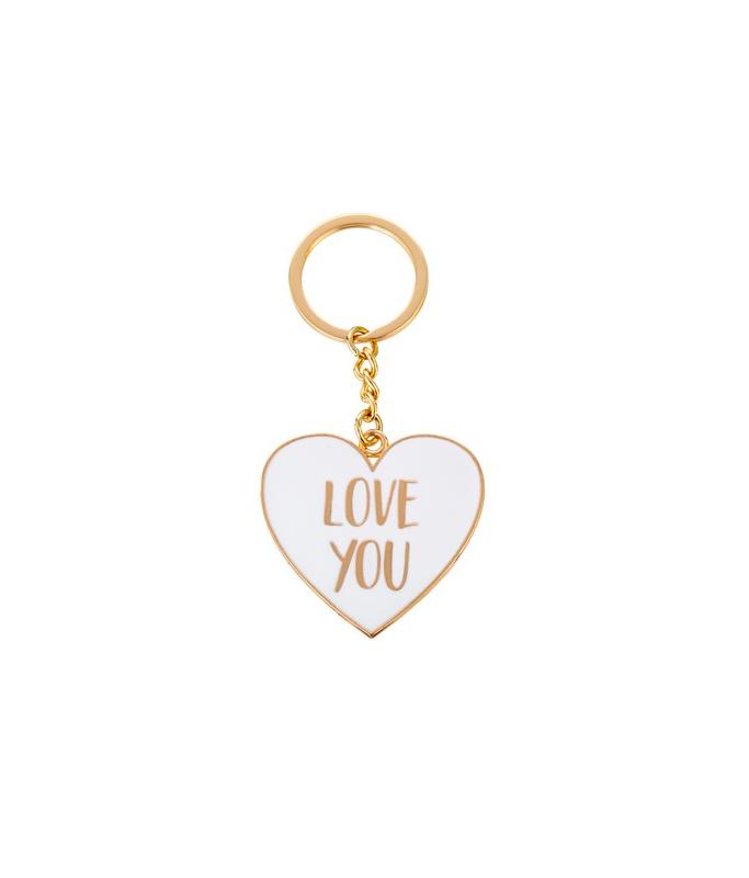 """Porte-clé métal Coeur """"Love You"""""""