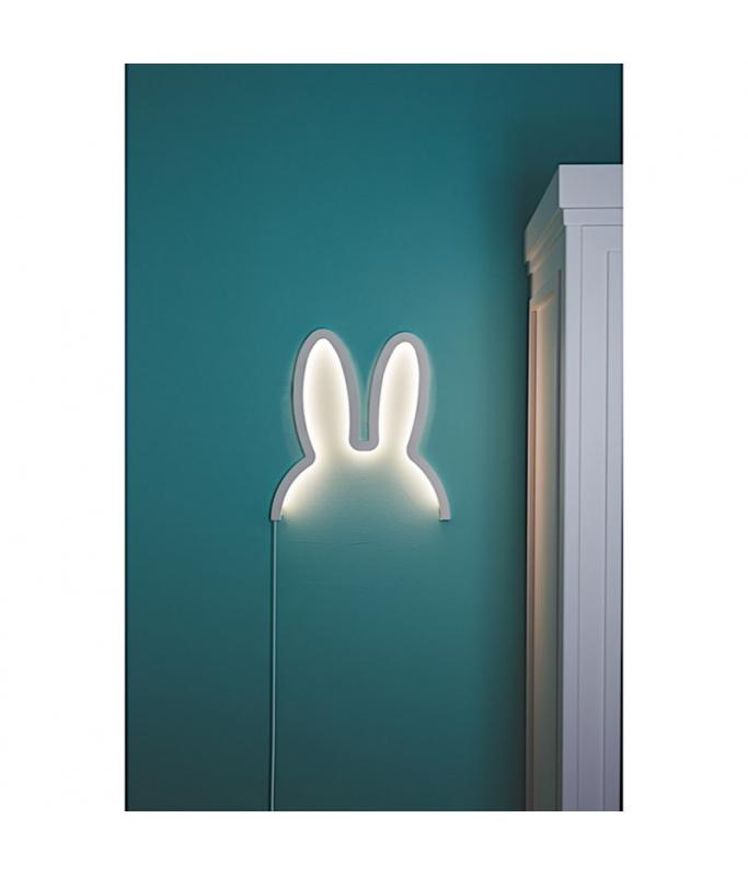 Miffy lampe en bois - taille S blanc