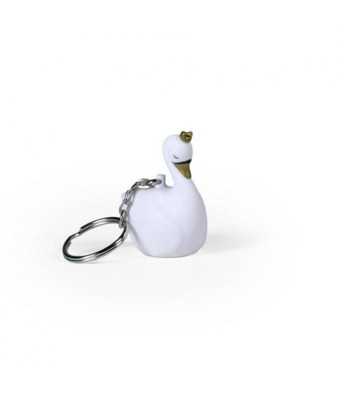 Porte-clé Cygne - blanc