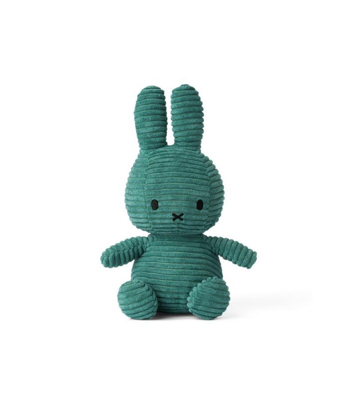Miffy - Lapin velour cotelé vert amande - 24 cm