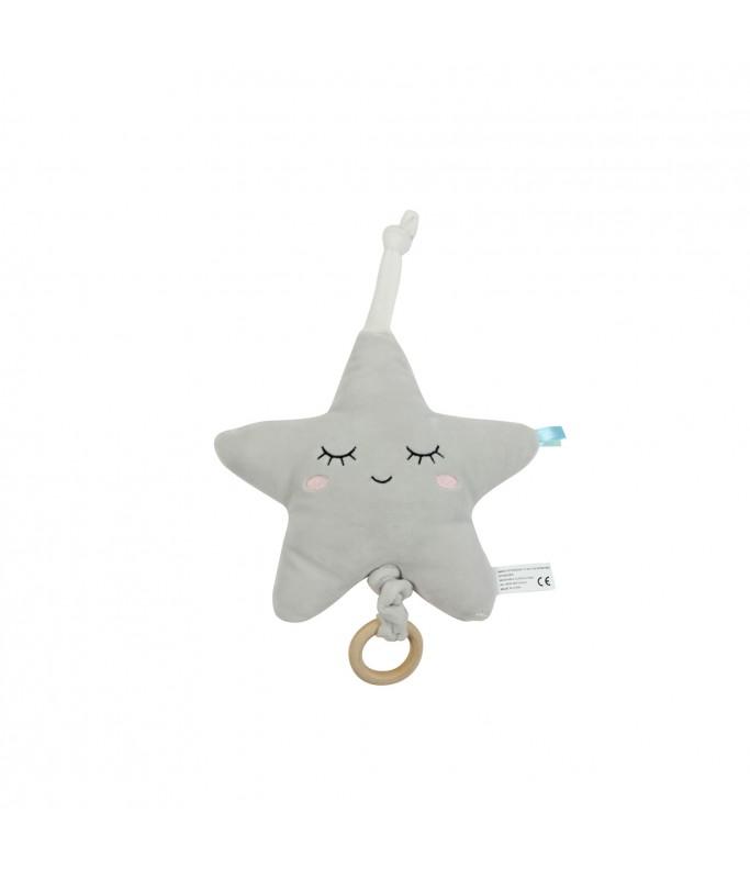 Coussin musical - étoile grise