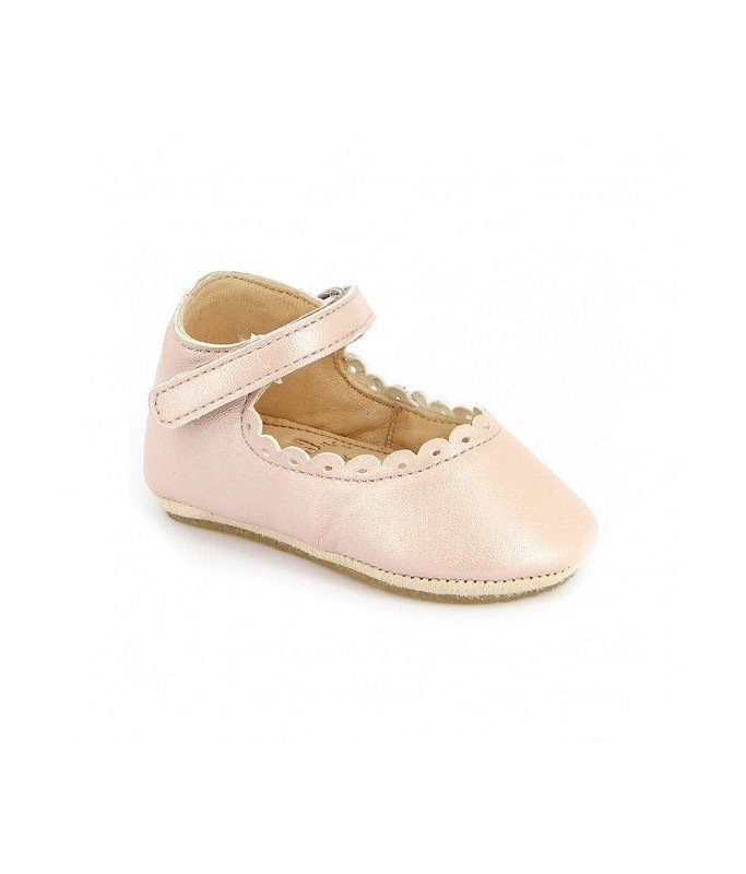 CHARLIE - Chaussons Rose baba - Taille 21