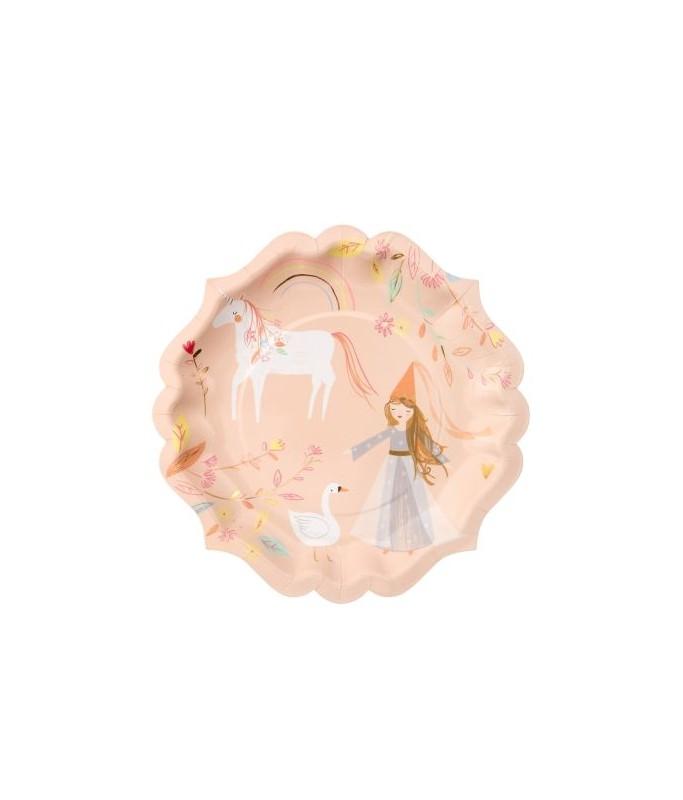 8 grandes assiettes Princesse Magique