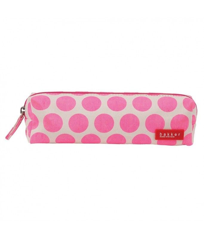 Trousse - big dots pink