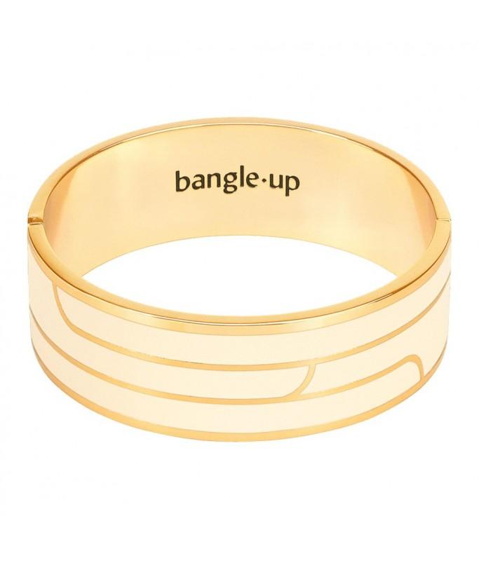 Bracelet GAYA ornementé de lignes- blanc