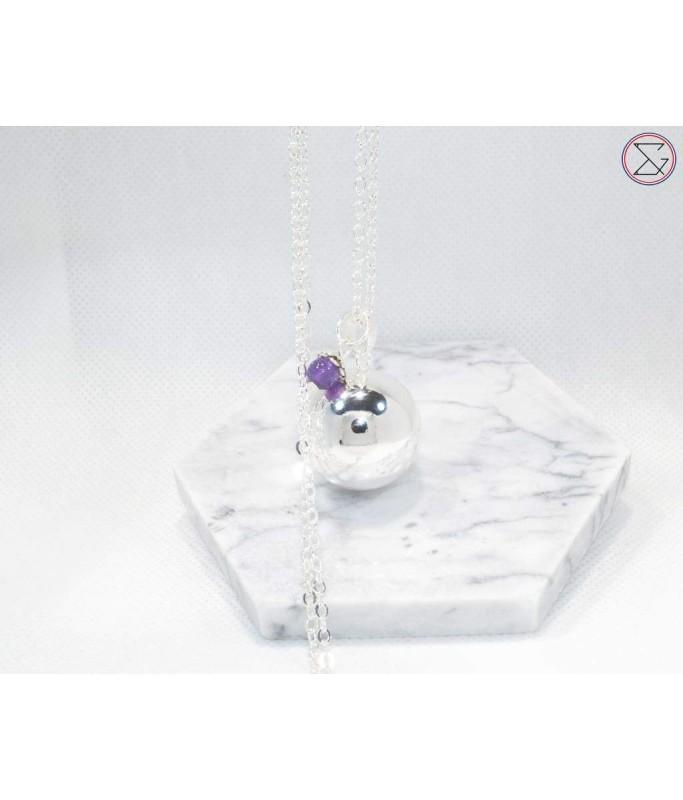Bola - perle améthyste violette