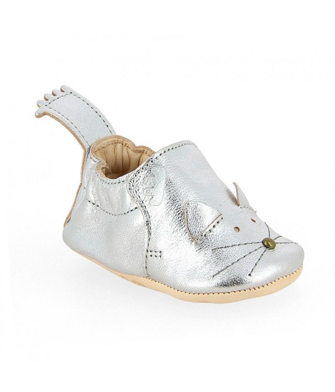 Chaussons Blumoo - Chat Silver - 0/6 mois