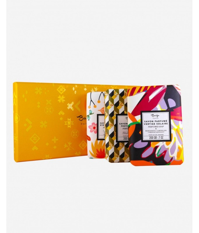 Coffret 3 savons solides - Yellow Mood