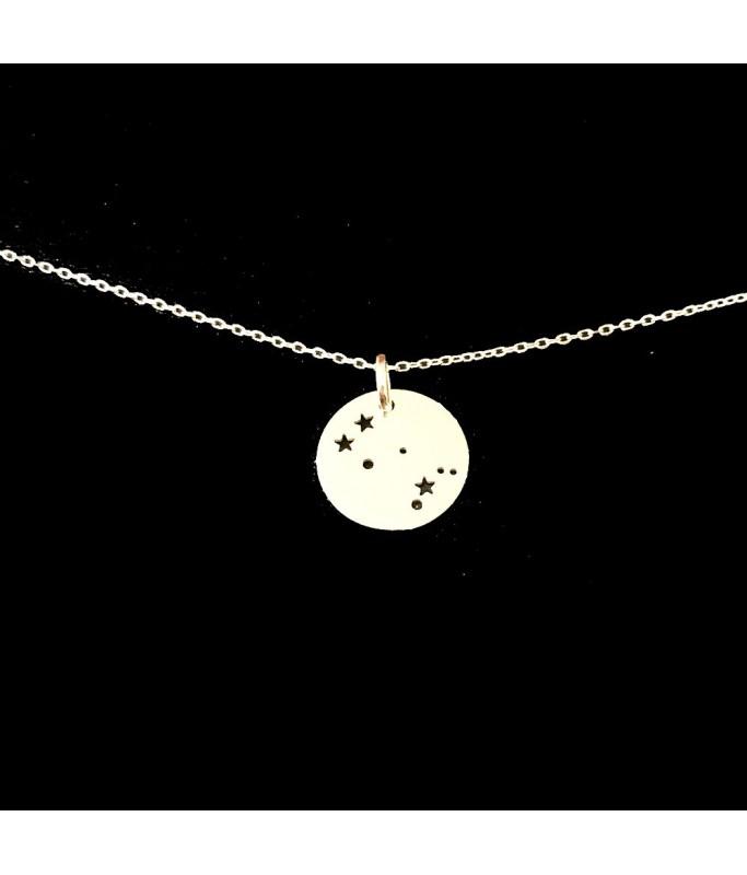 Collier argent - Constellation Gémeaux