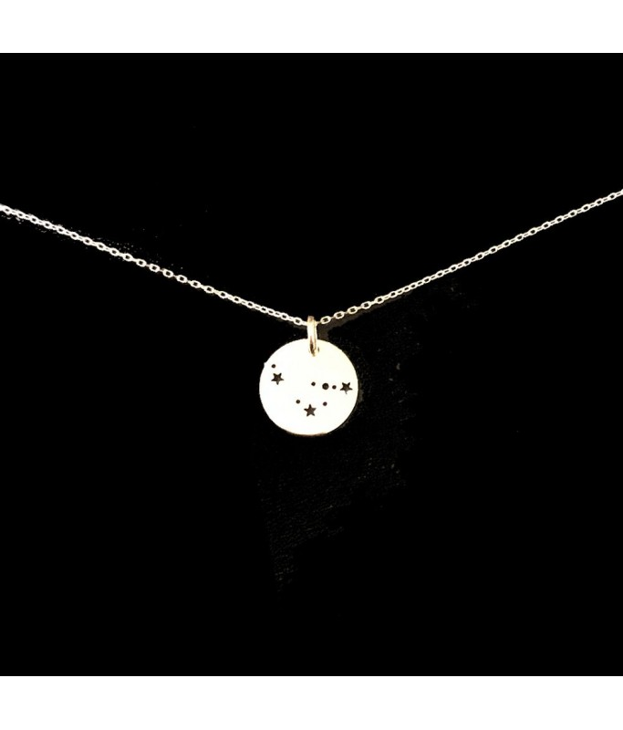 Collier argent - Constellation Capricorne