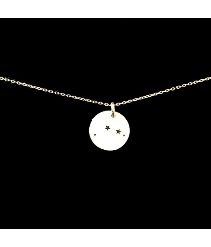 Collier argent - Constellation Balance