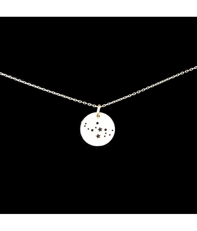 Collier argent - Constellation Vierge