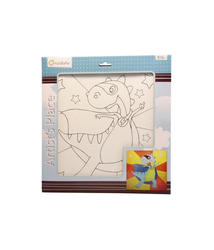 Toile à peindre Super Dino