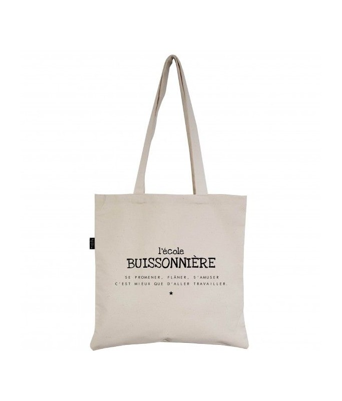 """Tote-Bag écru """"L'école Buissonnière"""""""