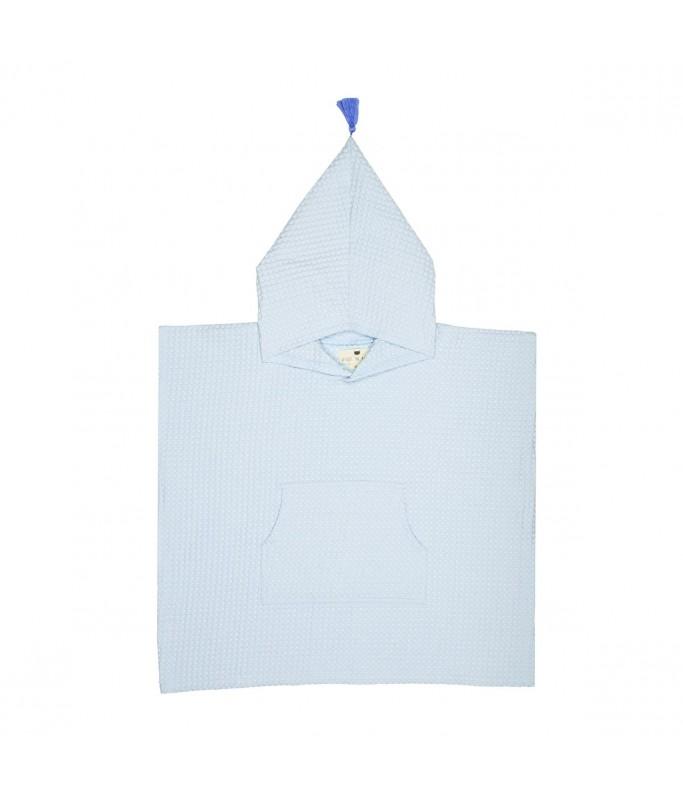 Poncho de Bain - Brune - Bleu iceberg
