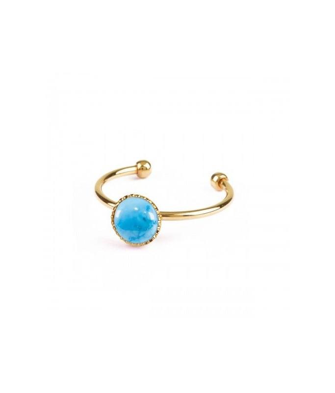 Bague Athena - Turquoise bleue
