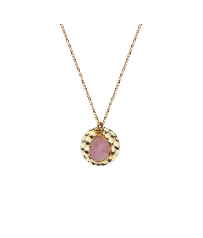 Collier Delhi - Calcedoine Rose