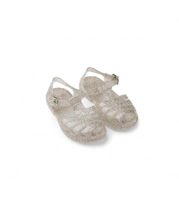 Sandales paillettes argentées - taille 22
